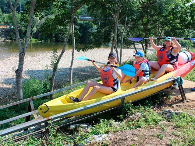 Información del descenso del Sella en canoa con niños
