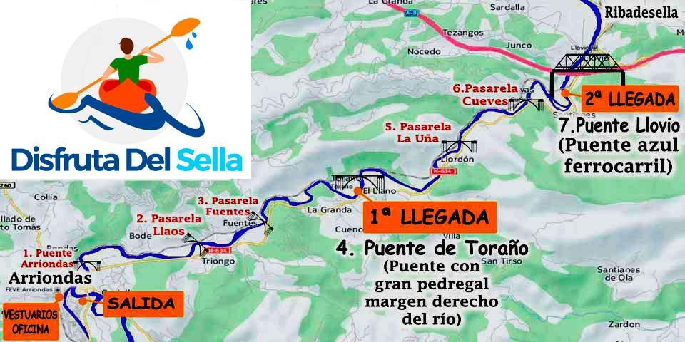 Mapa recorrido descenso del Sella