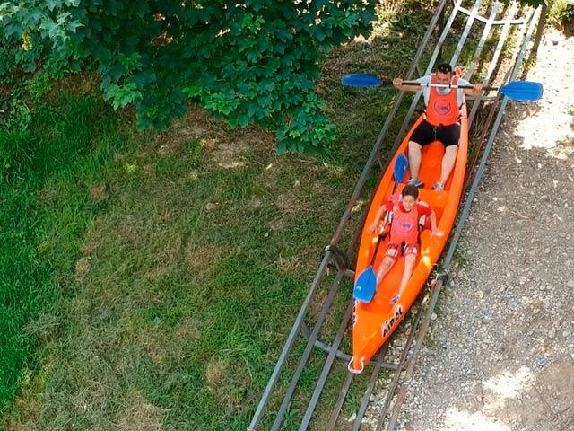 Foto de Salida desde la rampa tobogán para bajar el sella